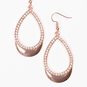 Make It REIGN - Copper Earrings